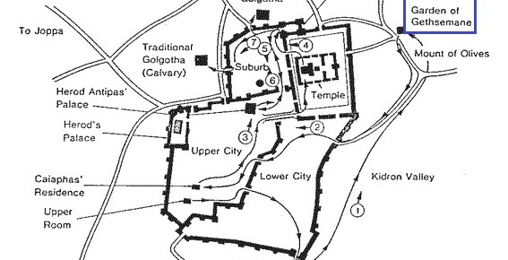 map of Jesus
